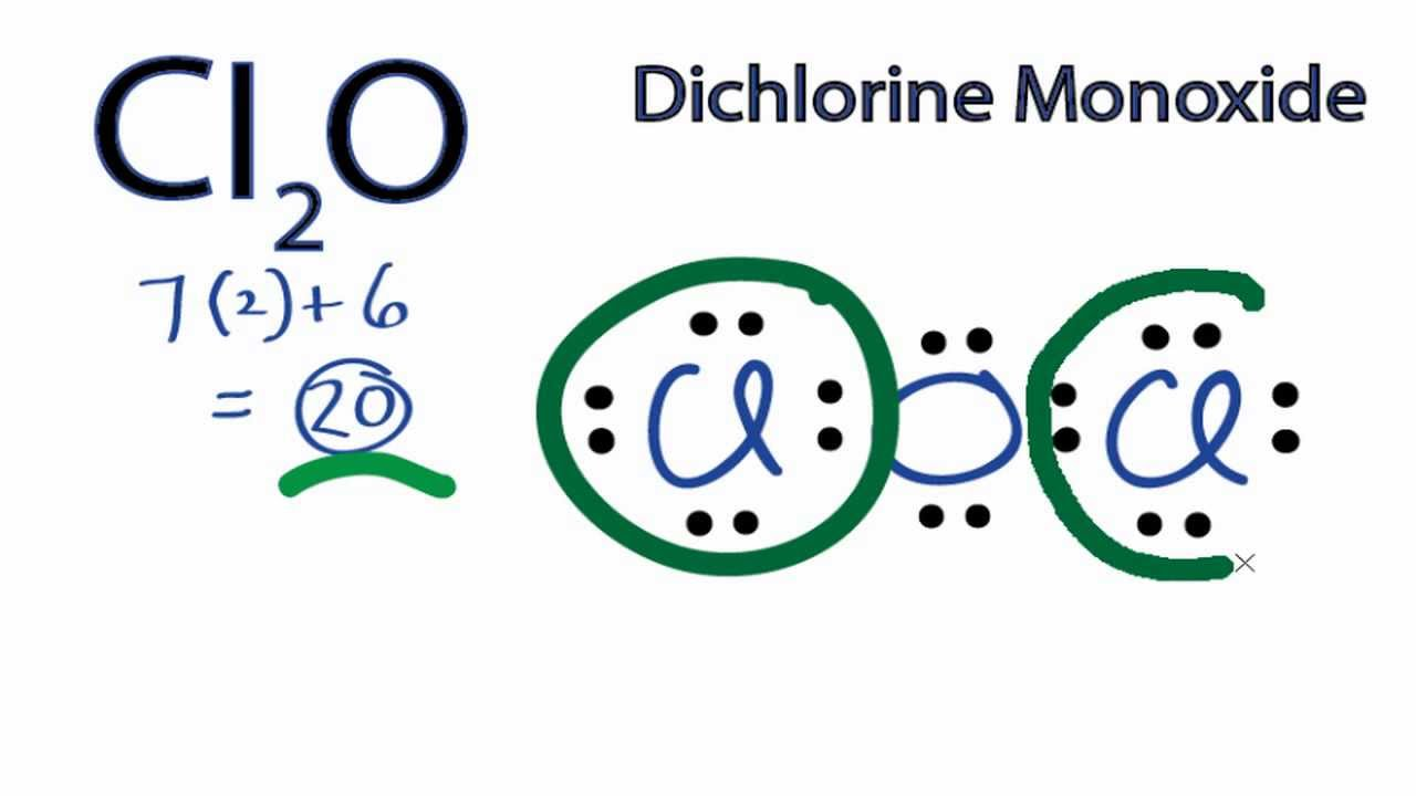Cl2O Lewis Structure: How to Draw the Lewis Structure for Cl2O (Dichlorine Monoxide). - YouTube