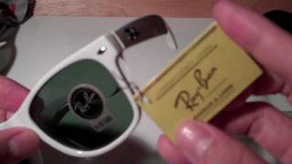 How to Spot Fake Ray Ban Wayfarers (model: RB2140)(In this video I showcase fundamental differences between a real pair of Ray Ban Polarized Original Wayfarer sunglasses (model: RB2140) with fake knockoffs ..., 2011-05-27T04:18:18.000Z)