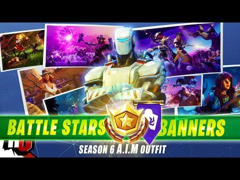 Fortnite | All 7 Secret Battle Stars & Banners To Unlock Hunting Party Skin (Season 6)