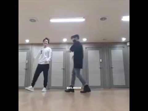 BTS J-hope and kookie silver spoon dance