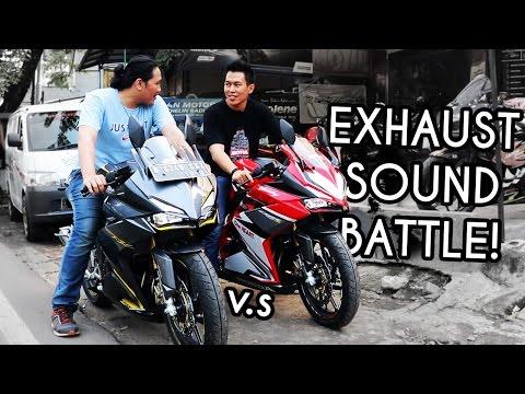 ADU SUARA CBR250RR R9 GP vs. AUSTIN | Sound Decibel Battle!!!