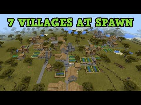 Minecraft PE 0.13/0.14.0 SEED - 7 VILLAGES NEAR SPAWN
