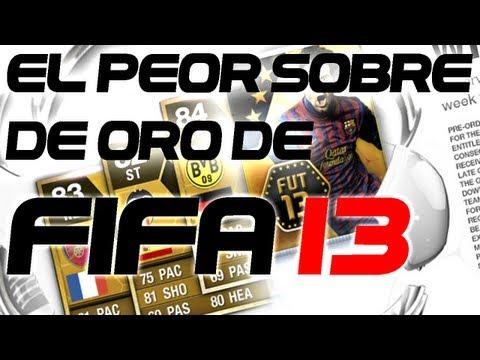 Reacción al abrir el peor sobre de oro de FIFA 13