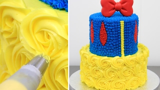 How To Make a Disney SNOW WHITE Cake - Pastel BLANCANIEVES by CakesStepbyStep