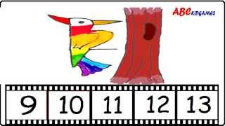Rainbow Art Based on Numbers(9-13) - Kids Friendly Art With Step by Step Tutorial