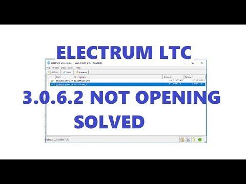 How to FIX LTC ELECTRUM 3 0 6 2 Not Opening - Electrum LiteCoin
