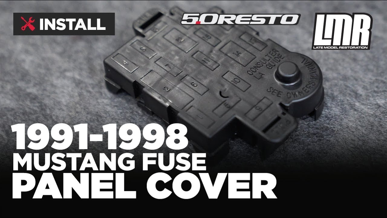 1991 1998 mustang 5 0 resto fuse panel cover install review [ 1280 x 720 Pixel ]