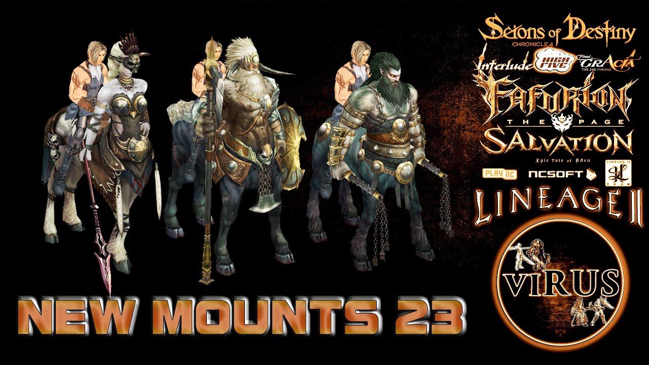 New Mounts 23. LINEAGE II - Prelude Of War. Any Chronicles ◄√i®uS►