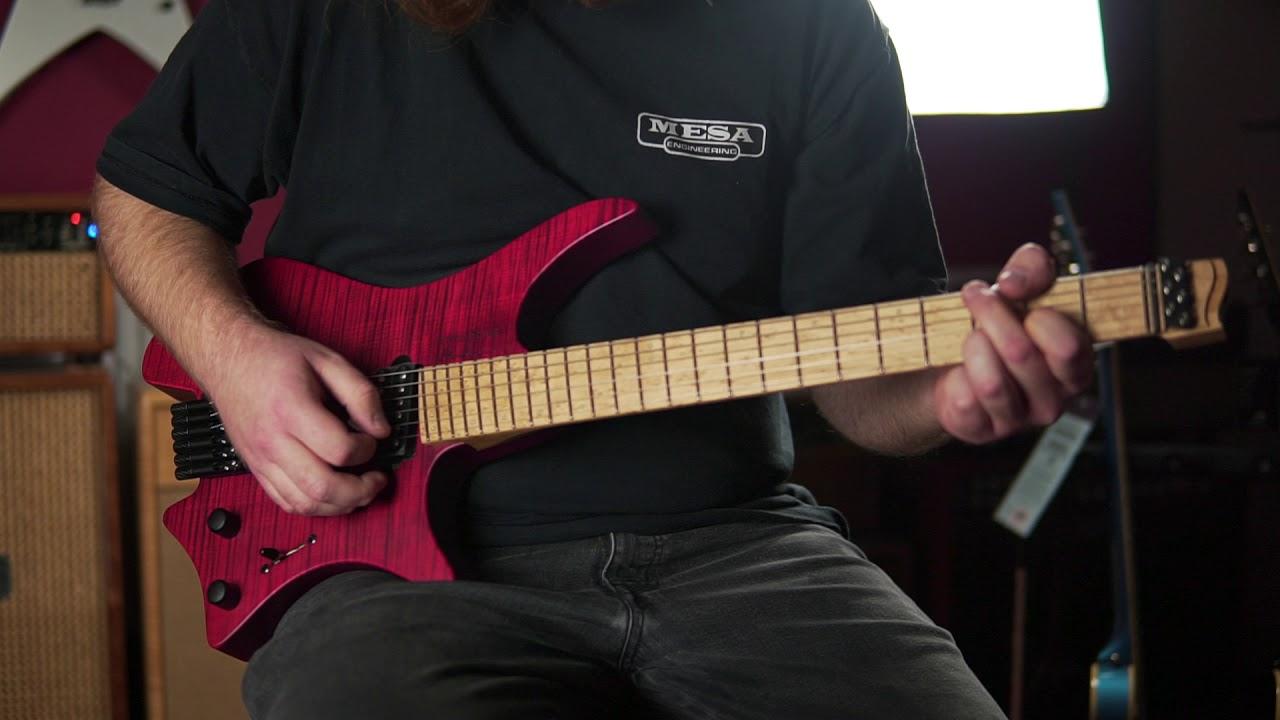 sold strandberg boden original 6 red headless guitar cc1701494 youtube. Black Bedroom Furniture Sets. Home Design Ideas