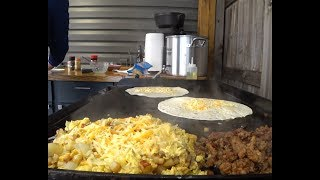 Camp Chef Flat Top Grill FTG600 Breakfast Burritos 4K Jan 2019 thumbnail