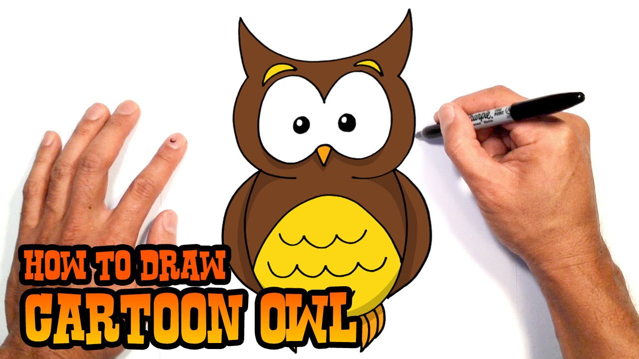- How To Draw A Owl Drawing Lesson For Kids - YouTube