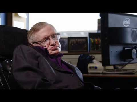Stephen Hawking shows off Intel's connected wheelchair