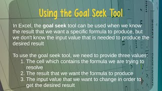 How to Use the Goal Seek Tool in Microsoft Excel