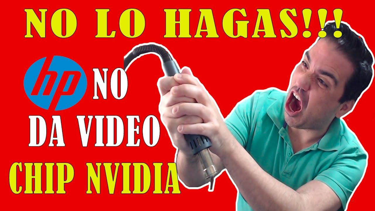 🔴 QUE SEÑAL MEDIMOS PARA DESCARTAR CHIP DE VIDEO? HP 15T / 17T ENCIENDE Y NO DA VIDEO CHIP NVIDIA.