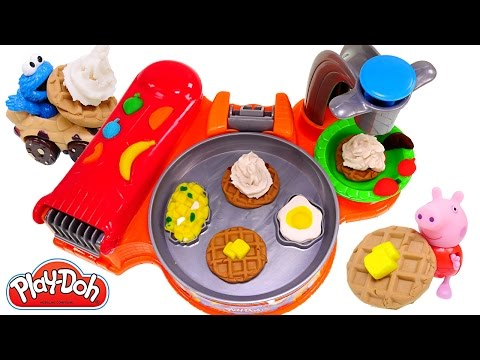 Thumbnail: Play Doh Breakfast Café New Playdough Frying Pan Makes Play-Doh Waffles Eggs Bacon 2015 Toys
