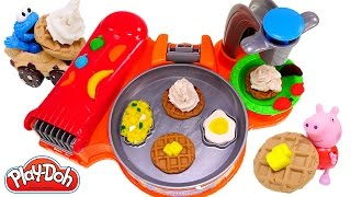 Play Doh Breakfast Café New Playdough Frying Pan Makes Play-Doh Waffles Eggs Bacon 2015 Toys