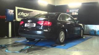 Reprogrammation Moteur Audi A4 tdi 120cv @ 186cv Digiservices Paris 77183 Dyno