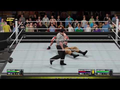 WWE 2K17 Jake Tyler vs  Braun Strowman & Luke Harper