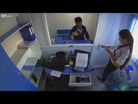 Man armed knife robbed microcredit organization in Temirtau, Karagandy Province (Kazakhstan)