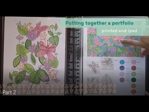 How to create a textile design portfolio? | Printed and Ipad portfolio overview.