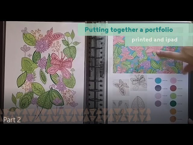 How To Create A Textile Design Portfolio Printed And Ipad Portfolio Overview Youtube