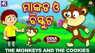 ମାଙ୍କଡ ଓ ବିସ୍କୁଟ - The Monkeys and The Cookies | Odia Story for Children | Odia Fairy Tales