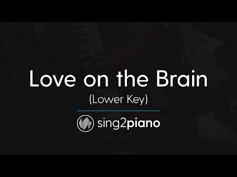Love On The Brain (Lower Piano Karaoke) Rihanna