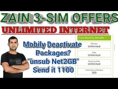 ZAIN Unlimited Internet?? || Unlimited free calls || 300 int minutes | How to Deactivate Mobily Net?