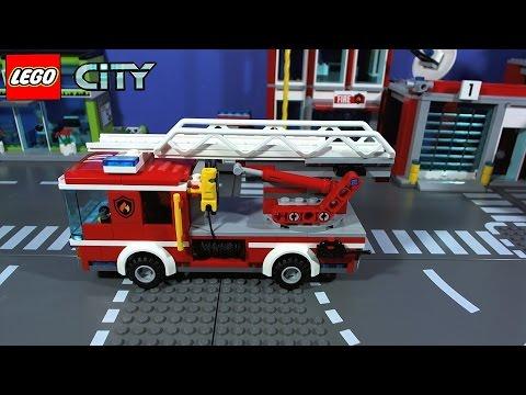 Lego City Fire Ladder Truck 60107 Youtube