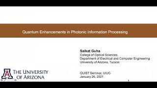 Quantum enhancements in photonic information processing