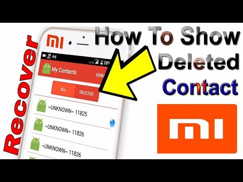How to Recover Deleted Contacts from Xiaomi Redmi