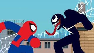 Spider-Man VS Venom Stick Fight!!