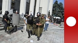 Ukraine parliament: Suspect caught on camera hurling fatal grenade