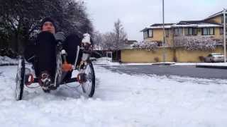 Windcheetah extreme cornering fun in the snow