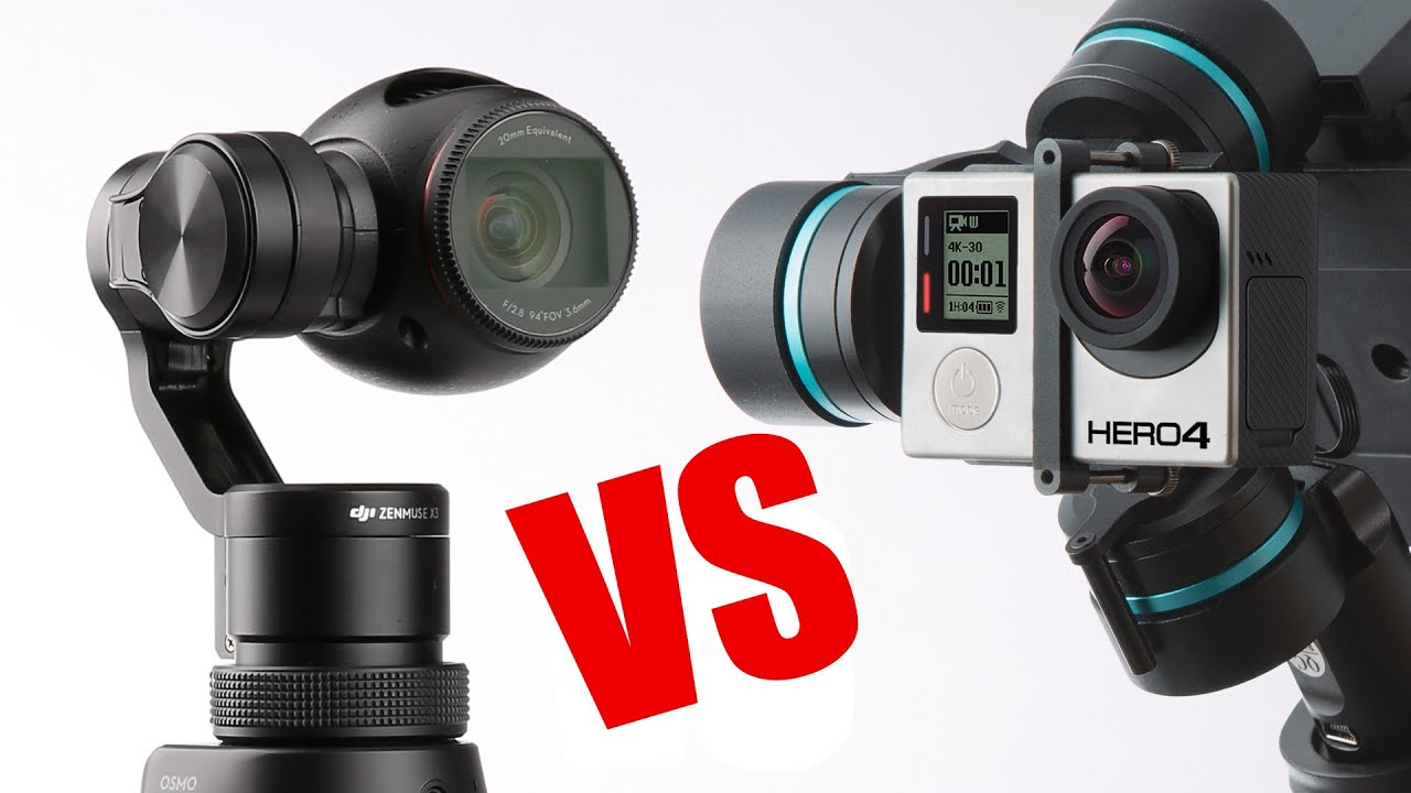 DJI OSMO VS GOPRO 4 Black 4K 30FPS Night Shot Reviews