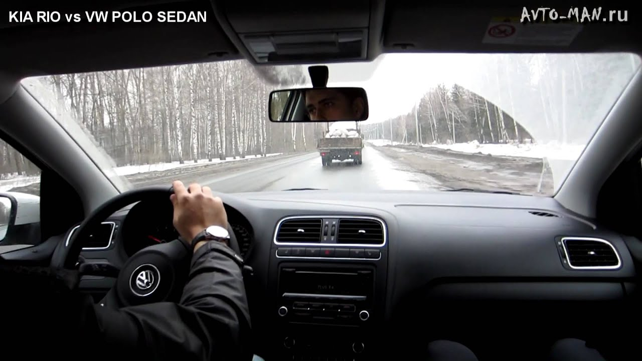 9c82bdc689194 KIA RIO против VW POLO SEDAN - YouTube