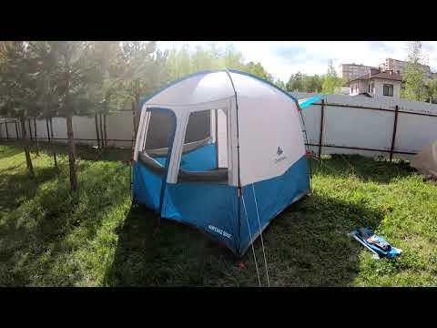 Обзор дугового шатра для кемпинга ARPENAZ BASE M QUECHUA.