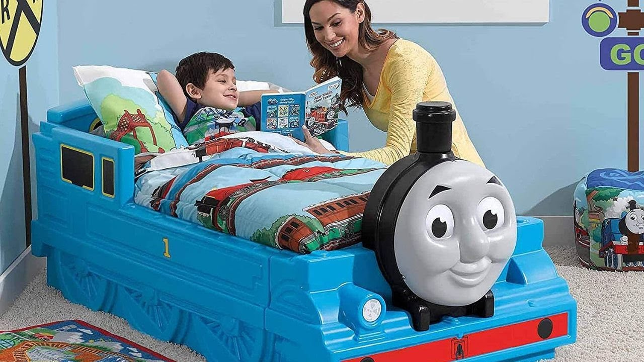 Cool Diy Thomas Tank Engine Toddler Bed for kids bedroom | Kids bad Design Ideas United State