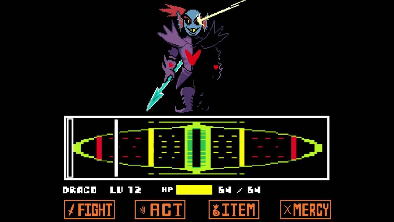 Undertale No Hit Undyne The Undying Colored Sprite Mod Youtube