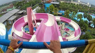 Hula Hula Water Slide at Hawai Water Park Malang