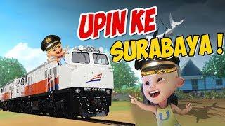 Upin ipin naik kereta api ke Surabaya GTA Lucu