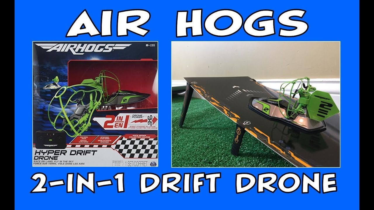 Air Hogs 2 In 1 Drive Fly Hyper Drift Drone Unboxing Review