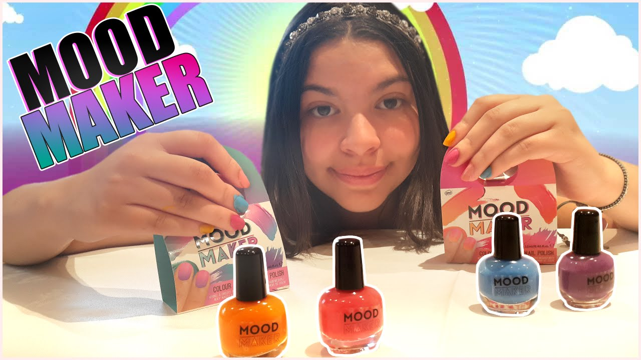 Nail Polish that Changes Color ( Mood Maker Review ) - YouTube