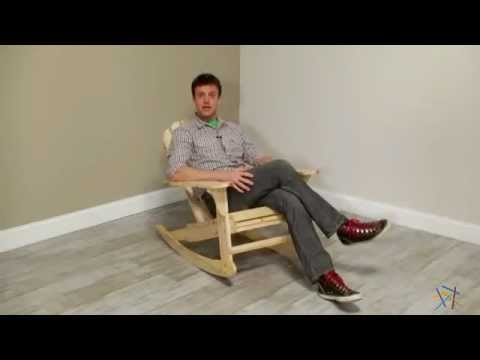 Natural Adirondack Rocking Chair - Product Review Video