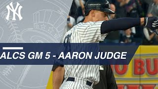 ALCS Gm5: Aaron Judge plates Brett Gardner with a double to left