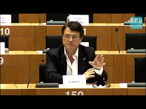 Gerard Batten deals with George Soros in the European Parliament