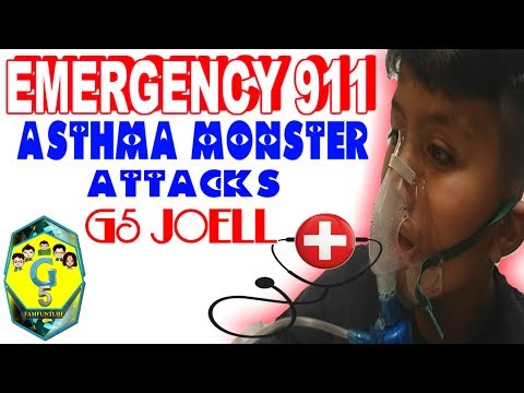 G5JOELL GET'S ATTACK BY THE ASTHMA MONSTER #FAMILYYOUTUBERS
