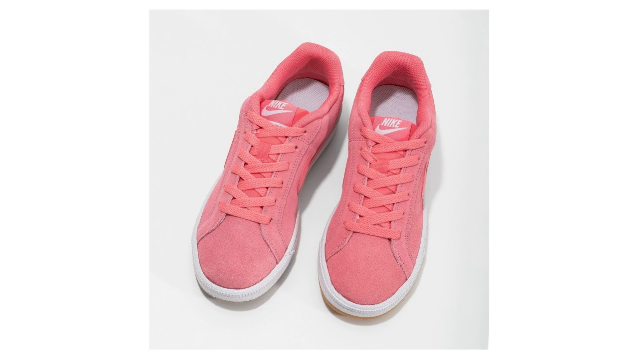 915b64d19 Kožené růžové dámské tenisky Nike - YouTube