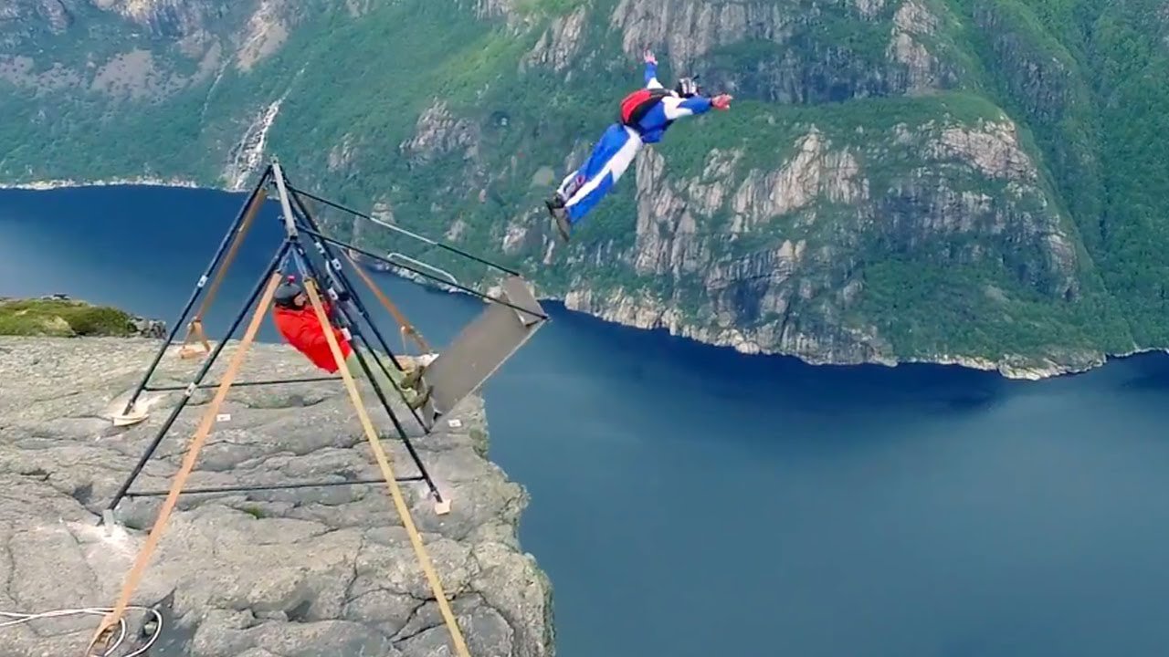 Russian Swing BASE Jump with Jimmy Pouchert | Negative 4 ...