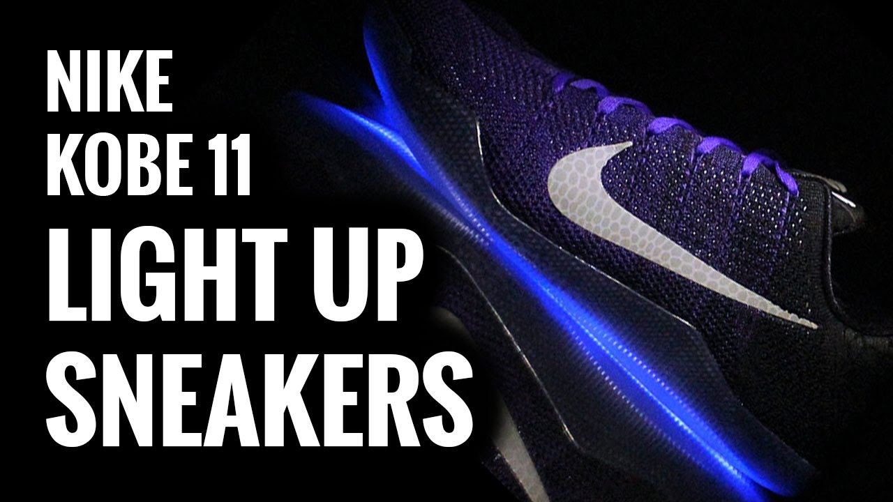 nike kobe xi 11 elite light up sneakers evolved footwear youtube